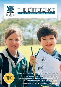Primary Students investigate maths in nature on the front cover of The Difference Magazine
