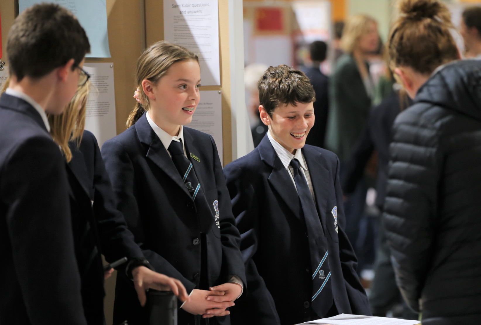 Sharing knowledge at the Year 7 Exhibition