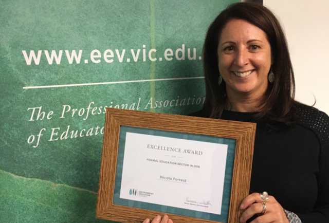 Excellence Award for Environment Education Leadership