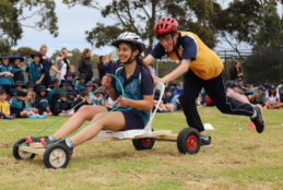 Racing in the Year 8 Billy Cart Derby