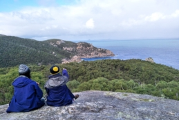 Year 10s enjoying the view at Wilsons Promontory