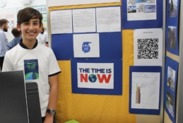 Sharing knowledge at the Year 6 Exhibition